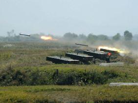 Nordkoreanisches Militär bei einer Übung. (Archiv)