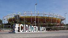 Der Olympiapark von Rio ist am Wochenende für Besucher geöffnet - allerdings kommen kaum welche.