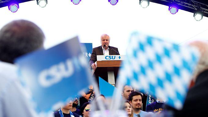 Seehofer vor einigen Tagen bei einem Wahlkampfauftritt in München.
