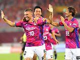 Lukas Podolski hat in Japan offenbar keine Anpassungsschwierigkeiten.