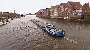 Unfaire Behandlung von Dreckschleudern?: Binnenschiffe fahren mit Diesel durch Umweltzonen
