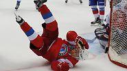 Meister der Selbstinszenierung: Putin spielt Eishockey auf dem Roten Platz
