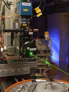 In der European Synchrotron Radiation facility wurde der Schädel gescannt.