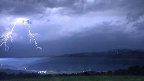 In Österreich entluden sich heftige Gewitter.
