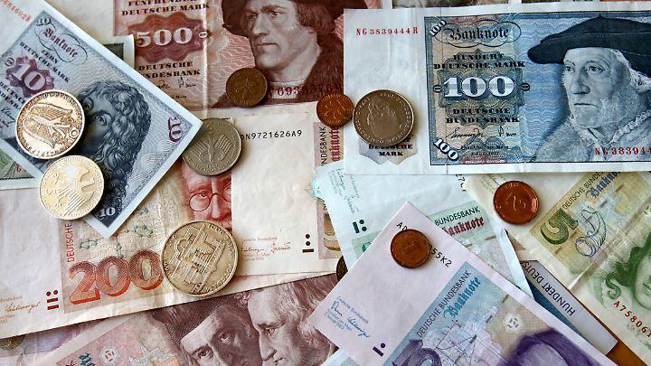 Der Wert der nicht umgetauschten Münzen übertrifft den der Scheine um ein Mehrfaches.