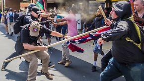 Scharfe Kritik an Trumps lascher Reaktion: Rassisten-Aufmarsch in Charlottesville fordert Todesopfer