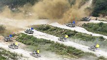 Jedes Jahr führen die USA und Südkorea ein gemeinsames Militärmanöver durch. Davon wollen sie auch in diesem Jahr nicht abrücken.