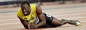 WM-Drama zum Abschied: Muskelkrampf stoppt Usain Bolts letzten Lauf