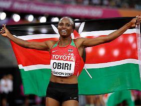 Gold für Kenia: Hellen Obiri.