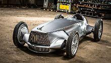 Elektrischer Retro-Roadster: Infiniti Prototype 9 gibt den Silberpfeil