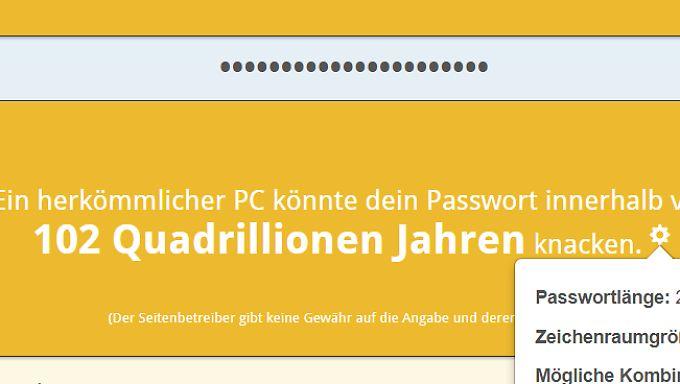 Dieses Passwort scheint sicher zu sein.