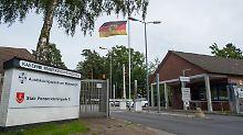 Eingang zur Kaserne in Munster.