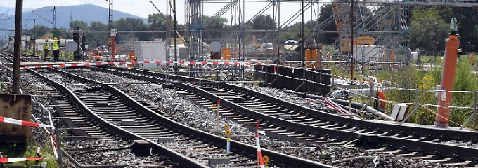 Tunnelbaustelle im Rheintal: Bahn verlängert Sperrung bei Rastatt