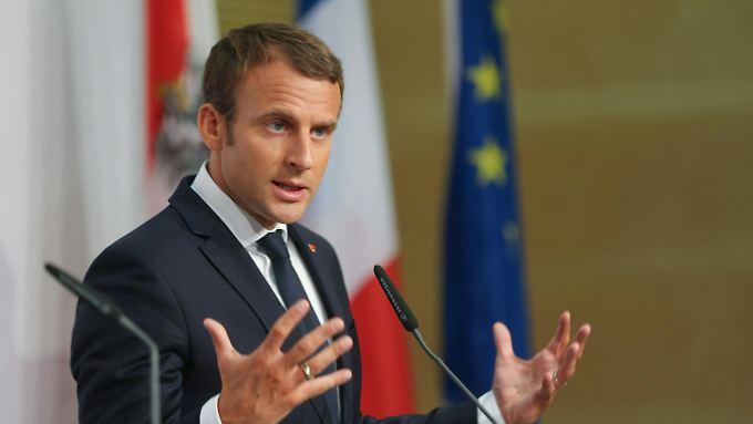 """Das Budget solle """"einige Punkte des Bruttoinlandsprodukts der Eurozone umfassen"""", sagt Macron."""