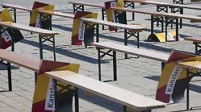 Wahlkampfauftritt in AfD-Hochburg: Merkel erntet Pfiffe und einen Rat von Schulz