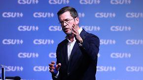 CSU-Wahlkampf in Kulmbach: Guttenberg meldet sich mit markigen Sprüchen zurück