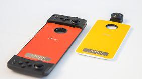 Das sind die neuen Mods: Ein Gamepad und eine 360-Kamera.