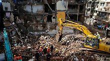 Hauseinsturz nach Monsunregen: Zahl der Todesopfer in Mumbai steigt auf 34
