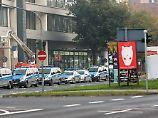 Im Westend sind zahlreiche Polizisten im Einsatz.