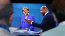 Merkel gegen Schulz: Die wichtigsten Szenen des TV-Duells