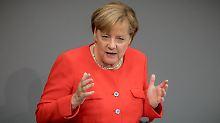 """""""Freuen Sie sich doch mit mir"""": Merkel feiert ihre Regierungszeit"""