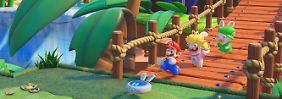 """Verrückt-genialer Spielespaß: """"Mario + Rabbids Kingdom Battle"""" ist klasse"""