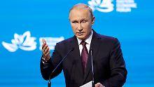 Warum machen Sie da mit? Putin an Washington.