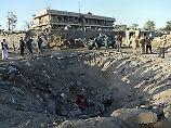 Die afghanische Botschaft in Kabul kurz nach dem Anschlag im Diplomatenviertel im Mai.