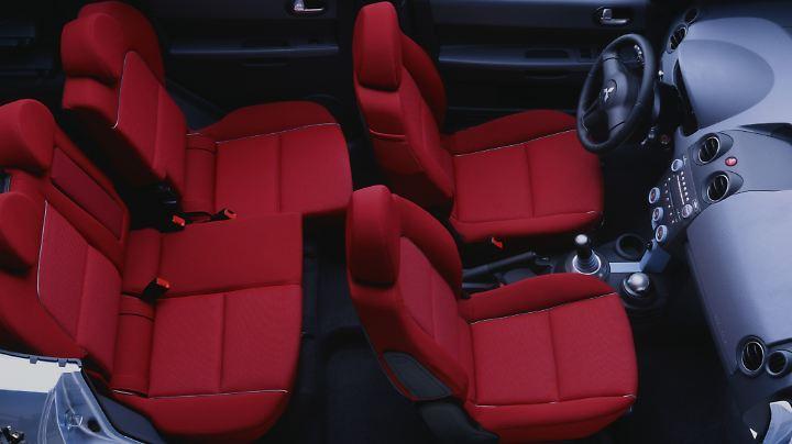 Im Innenraum des Mitsubishi Colt finden vier Personen Platz.