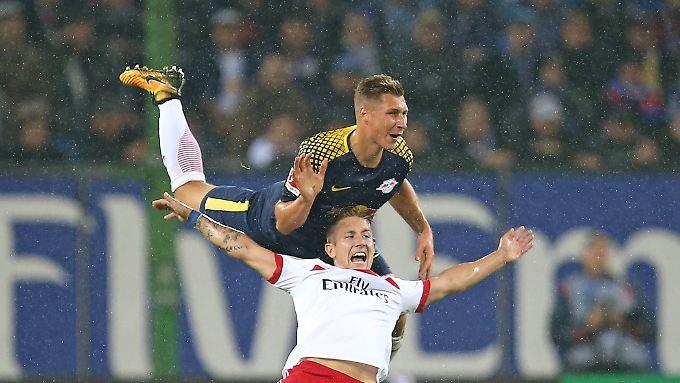 Gegen die starken Leipziger hatte der HSV keine Chance.