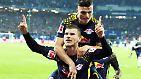 ... der kann es einfach nicht lassen. Dank eines blitzsauberen Treffers des Nationalspielers und eines weiteren von Spielmacher Naby Keita gewinnt RB Leipzig mit 2:0 bei tapfer kämpfenden Hamburgern.