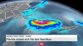 """""""Irmas"""" zerstörerische Route: Hurrikan auf dem Weg nach Florida"""