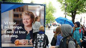 Ministerpräsidentin Erna Solberg regiert derzeit mit einer Minderheitsregierung.