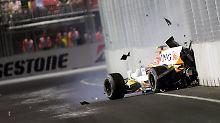 """""""Crashgate""""-Jubiläum in Singapur: Renault schummelt sich per Unfall zum Sieg"""