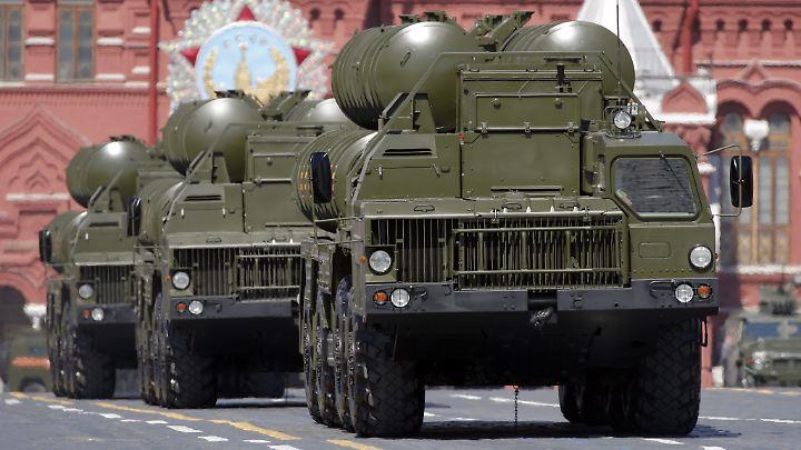 Das Raketenabwehrsystem S-400 bei einer Parade in Moskau.