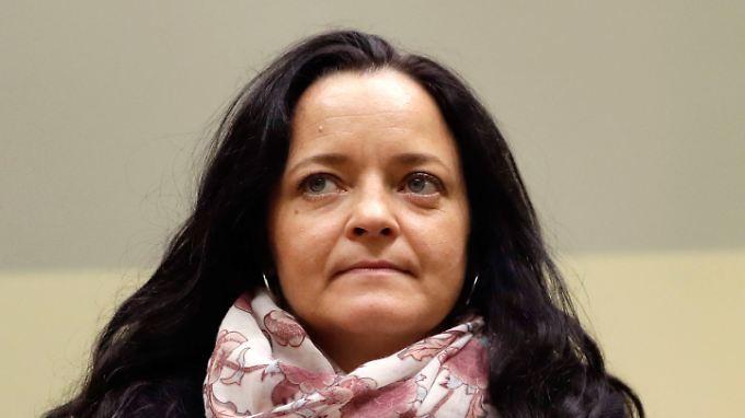 Zschäpe zeigte sich während des Plädoyers der Anklage ungerührt.