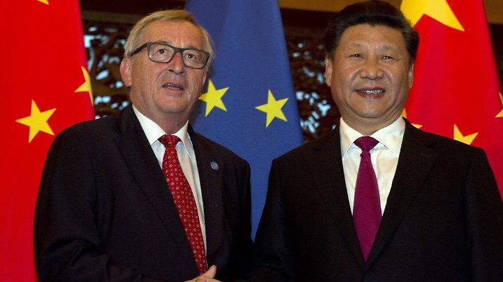 Juncker mit dem chinesischen Präsidenten Xi