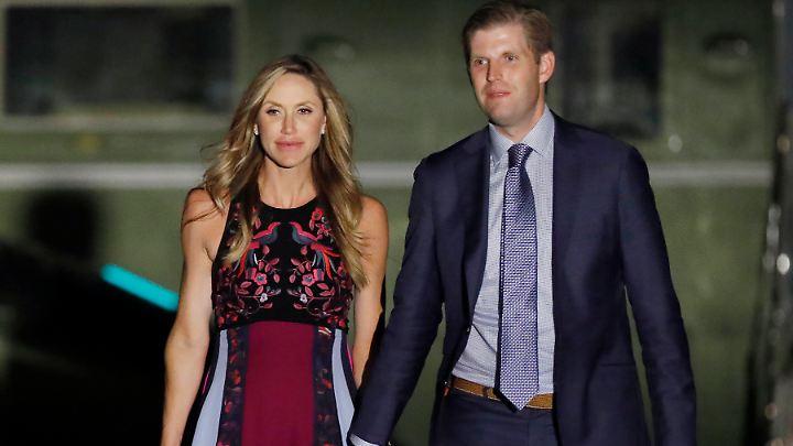 Lara und Eric Trump haben ihr erstes Kind bekommen. Es ist ein Sohn.