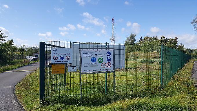 Blick auf den letzten Bohrturm über dem CO2-Speicher in Ketzin. Zehntausende Tonnen des Gases lagern hier.