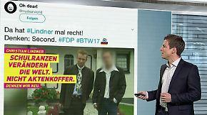 n-tv Netzreporter: Junger @c_lindner wird viraler Hit