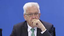 Winfried Kretschmann steht in Stuttgart einer grün-schwarzen Koalition vor.