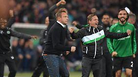 Was das Sportliche angeht, konnten Trainer Andre Breitenreiter und Sportdirektor Horst Heldt kaum meckern.