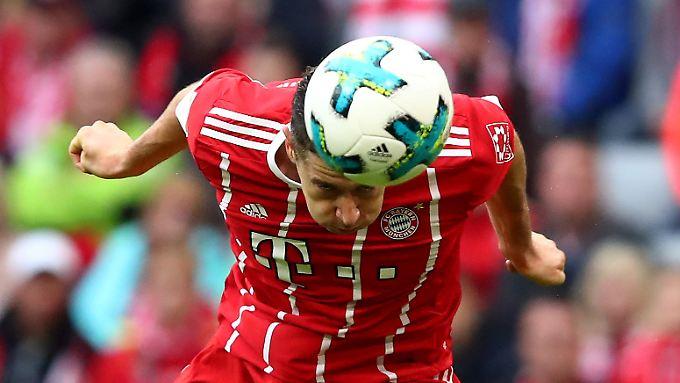 Robert Lewandowski zeigte sich für einen Problemstürmer aus Bayern-Sicht erfreulich treffsicher.