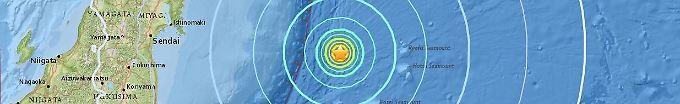 Der Tag: 19:54 Erdbeben erschüttert Japan