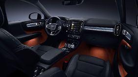 Gemessen an der Außenhaut gibt sich der Volvo XC40 im Innenraum geradezu verspielt.