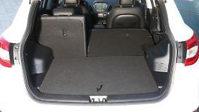 Der Kofferraum des Hyundai ix35 bietet ein Ladevolumen von 465 bis 1436 Litern.