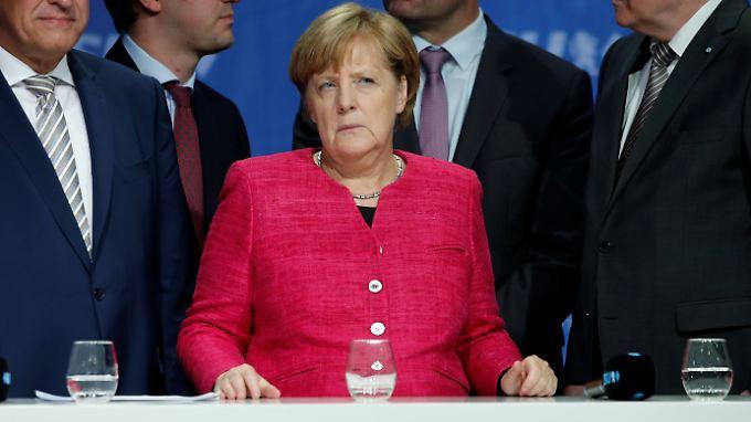Ausgebuht: Angela Merkel