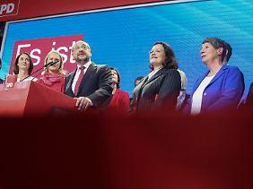 Die SPD, der künftige Oppositionsführer.