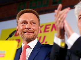 Ergebnis verdoppelt: Christian Lindner.