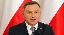Andrzej Duda hat sein Veto gegen die Vorschläge der Regierungspartei PiS eingelegt.